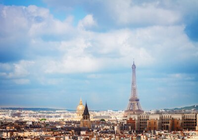 Wall mural skyline of Paris with eiffel tower