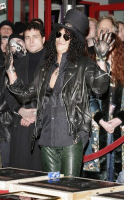 Wall mural Slash, Ronnie James Dio and Terry Bozzio Inducted into Hollywood's RockWalk  held at the Hollywood's Guitar Center RockWalk in Hollywood, USA on January 17, 2007.