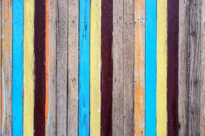 Wall mural Slat colourful
