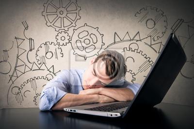 Sleepy businessman