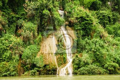 Small waterfall in china nature