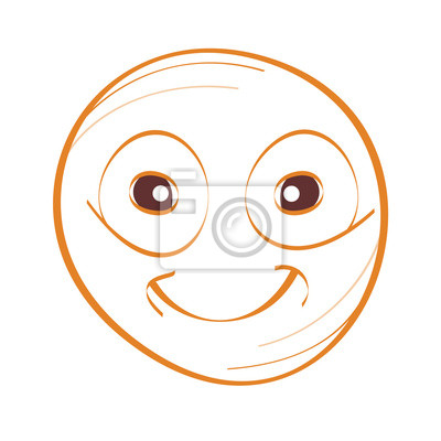 smile face drawing vector
