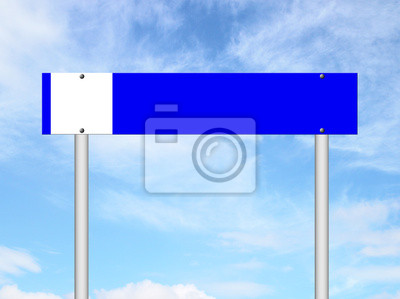 smoking area sign with blue sky