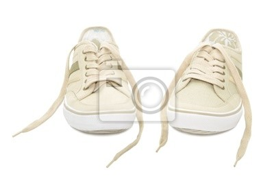 Wall mural Sneakers isolated on a white background