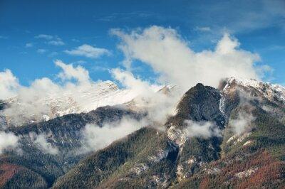 Wall mural Snow Mountain closeup Banff