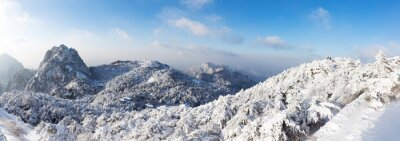 Wall mural snow scene of Huangshan hill in Winter