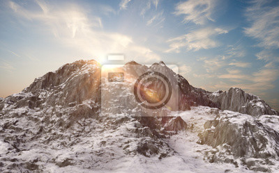 Wall mural Snowy mountains. Winter landscape
