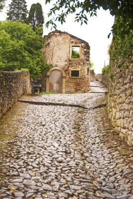 Wall mural Soave, strada al castello.