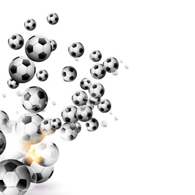 Wall mural soccer ball isolated on a white background