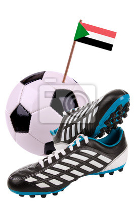 Soccer ball or football with a national flag