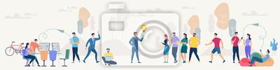 Wall mural Social Network and Teamwork Vector Concept.
