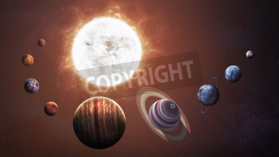 Wall mural Solar system and space objects. Elements of this image furnished by NASA