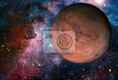 Wall mural Solar System - Mars. It is the fourth planet from the Sun.