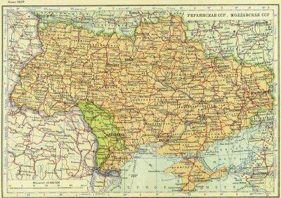 Wall mural Soviet Union, USSR, map