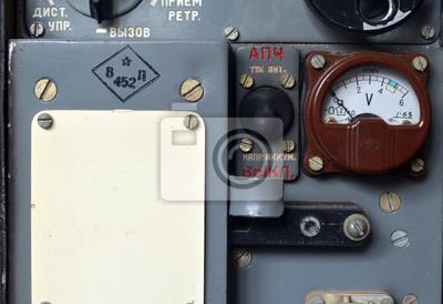 Soviet vintage military radio .Cold War time.