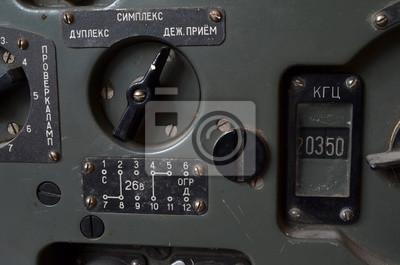 Soviet vintage military radio Cold War time.
