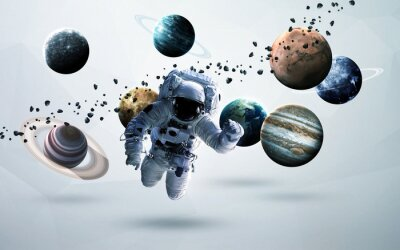 Wall mural Space art. Elements of this image furnished by NASA.