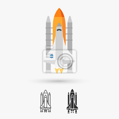 Wall mural Space shuttle vector icon