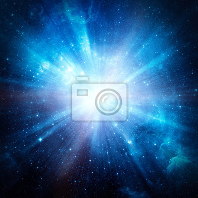 Space travel at the speed of light. Elements of this image furnished by NASA.