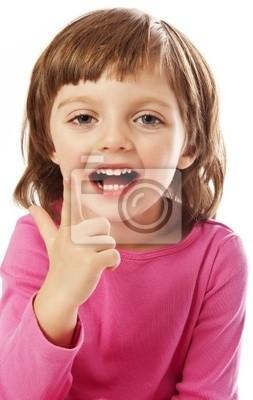 speaking little girl