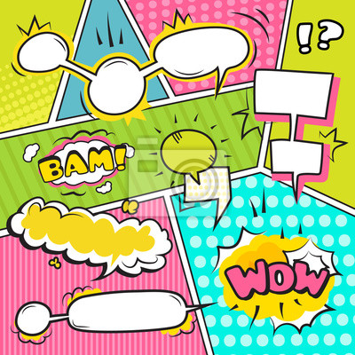 Wall mural Speech Bubble Banners Set