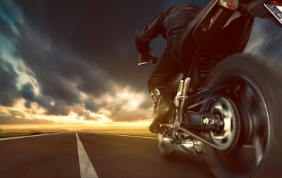 Wall mural Speeding Motorcycle