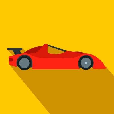 Wall mural Speeding race car flat icon