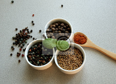 Wall mural spices