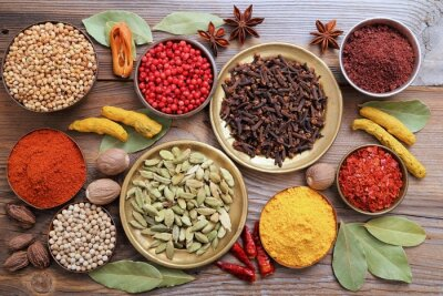 Wall mural Spices.