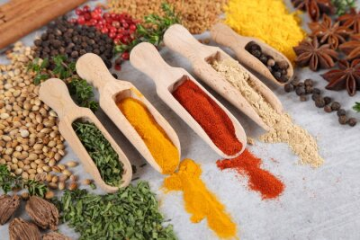 Wall mural Spices and herbs..