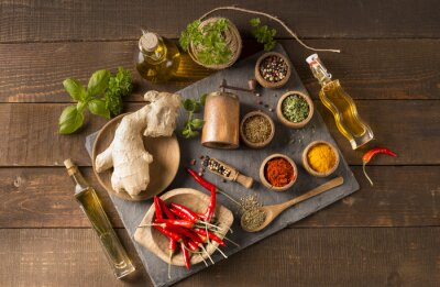 Wall mural spices and herbs