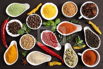 Spices and herbs.