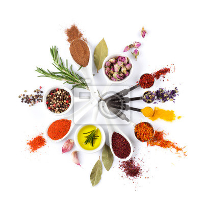 Wall mural Spices, herbs and condiments
