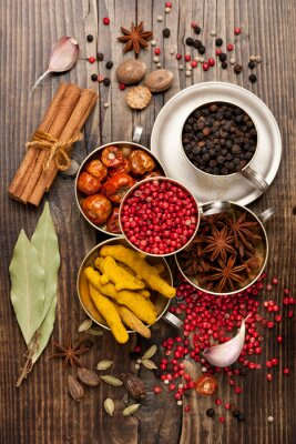 Wall mural Spices selection