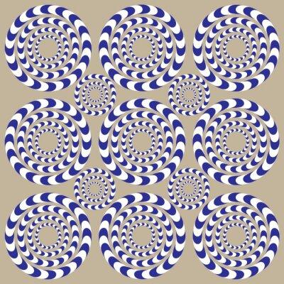Wall mural Spin Circles (Illusion)