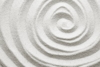 Wall mural Spiral in the sand