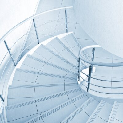 Wall mural Spiral staircase