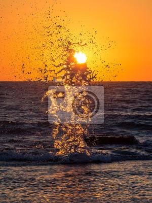 Splash at sunset