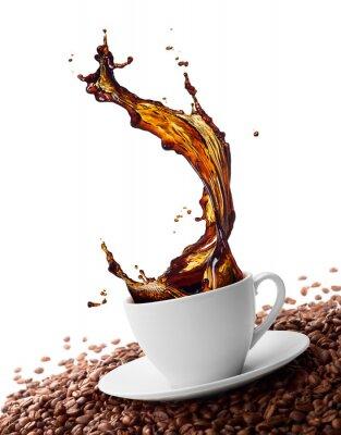 Wall mural splashing coffee
