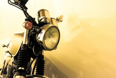 Wall mural Split toning  vintage Motorcycle