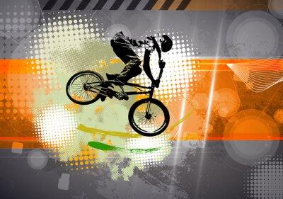 Wall mural Sport, BMX illustration