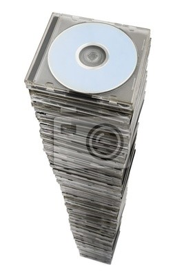 Wall mural Stack of cd