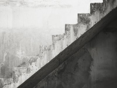 Wall mural Stairs Architecture details building Black and White