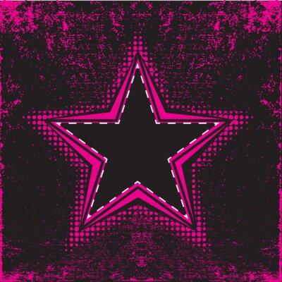 star backround retro style on highly detailed grunge background
