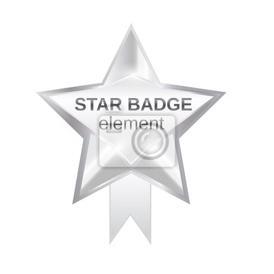 Wall mural star badge