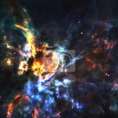 Wall mural Star field in  deep space many light years far from the Earth