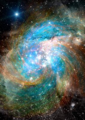 Wall mural Stars, dust and gas nebula