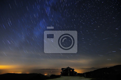 Startrails and blue night