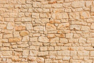 Wall mural Stein Mauer Alt Hell Beige Hintergrund Textur Struktur