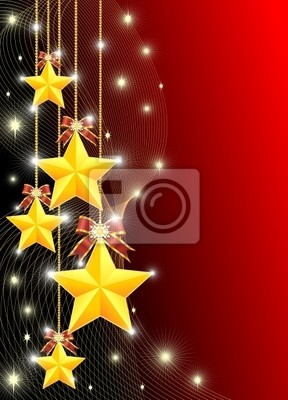 Stelle di Natale-Christmas Stars Background-Vector